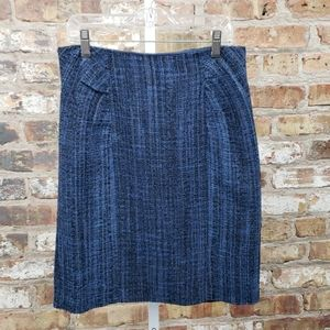 Nanette Lepore blue tweed skirt
